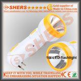 Lampada di scrittorio ricaricabile della torcia elettrica 6 SMD LED di 1W LED