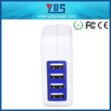 Smartphonesおよびタブレットのための新しい4ports USB旅行力のアダプターAC壁の充電器