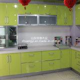 고품질 중국어는 높은 광택 있는 PVC에 의하여 입힌 부엌 찬장을 만들었다
