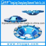 Roda de moedura da linha do diamante do concreto reforçado