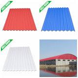 Farbiges freier Plastikgewölbtes Dach-Blatt