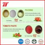 Pega alta calidad conservada del tomate para Turquía