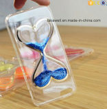 Tipo caixa líquida do coração do Glitter da alta qualidade 3D TPU do telefone da areia para o caso da tampa do Quicksand 6 do iPhone 5