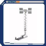 Équipement d'éclairage de 3,5 mètres de haut mât Spot d'éclairage de tour de site 4 lampes à DEL