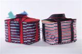 O saco funcional do refrigerador para o piquenique/o piquenique térmico isolado listrado almoço do refrigerador do saco do almoço do curso do Tote carreg o recipiente