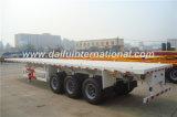 3 Semi Aanhangwagen van het Vervoer van de Container van assen 40FT Flatbed in Wit
