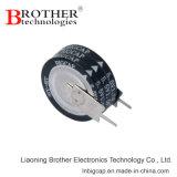 高温85c硬貨のタイプV 5.5V 1.0f Supercapacitorかファラッドのコンデンサー