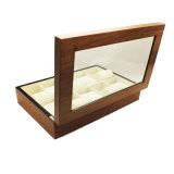 Rectángulo de almacenaje de madera del reloj de la laca del lustre de 10 ranuras