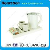 Honeysonのブランドの倍のDobyのホテルのためにセットされる電気やかんの皿