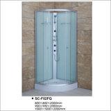 Sitio de ducha del cuadrante con el vidrio Tempered de la tela
