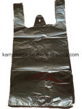 Sacchetto di immondizia nero di plastica con la maniglia