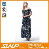 Vêtement de robe de dames de fleur d'impression d'exportation de qualité