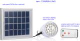 uma lâmpada leve da ampola do diodo emissor de luz da bateria da potência solar da classe 5 com de controle remoto