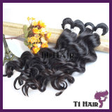 Virgin Hair Bundles com Lace Closure