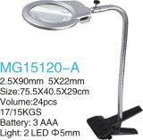 lupa de trabajo del clip de 5X22mm/2.5X90m m LED