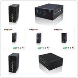 переключатели сети 100M Saiocm (1FX2FE) промышленные Unmanagement SM/20KM 12V~36V с против функцией напряжения тока пульсации
