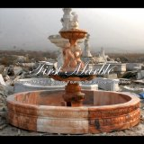 Fontana di marmo rossa di tramonto per il regalo Mf-303