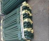 Poste clouté américain de poste de T peint par vert/de frontière de sécurité barre de té