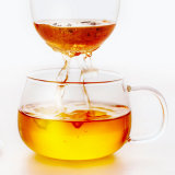 Handgemachte doppel-wandige GlasGroßhandelskaffeetasse (CHT8608)
