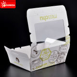 Kundenspezifisches Zeichen gedruckter wegwerfbarer Packpapier-Mittagessen-Nahrungsmittelkasten