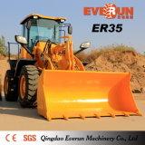 Chargeur de roue de frontal de la marque Er35 d'Everun avec les fourches en bois de palette de fourches d'herbe de fourches
