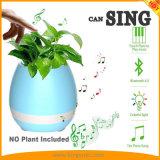 植木鉢スマートな多色刷りLED軽い円形のスマートなBluetoothのスピーカーをする接触プラントピアノ音楽
