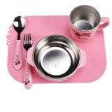 シリコーン力のチャックの食事のパッド子供の食事のパッド