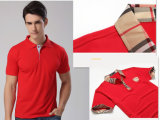 새로운 Design 95%Cotton 5%Spandex Men Stripe Polo Shirts