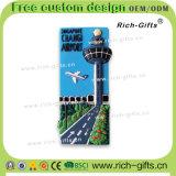Kundenspezifischer fördernder Flughafen Geschenke PVC-Kühlraum-Magnet-Andenken-Singapur-Changi (RC-SG)