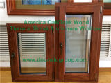 Oak solido Wood Tilt Turn Window con Costruire-in Shutter/Blinds