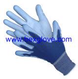 Doublure de polyester de 13 mesures, colorée, gant d'enduit de polyuréthane