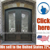 Moderne und einfache bearbeitetes Eisen-Sicherheits-Türen