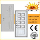 Moderne MDF-Vorstand-Sicherheits-Tür, Stahl-Belüftung-Tür (SC-A233)