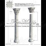 Colonna bianca Mcol-145 di Carrara della colonna del granito della colonna della pietra della colonna di marmo