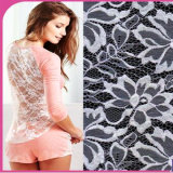 Nuovo Fashion Elastic Lace Fabric per Dress