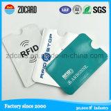 Funda/sostenedor de la tarjeta de papel del papel de aluminio
