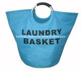 アルミニウムハンドルの洗濯物入れの記憶のバスケット