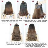 Clip calda in clip di capelli sintetica delle clip di estensione cinque dei capelli