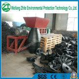 Défibreur de double arbre/machine en plastique de broyeur pour déchets municipaux de rebut/en bois/pneu/mousse/cuisine