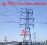 doppia torretta della trasmissione del circuito di 220kv 2D2 Sj3