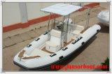 barca di 5.8m FRP con il tubo gonfiabile