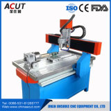 Máquina de gravura do Tag da máquina do CNC Rotuer da madeira de Hobbist para o alumínio com giratório