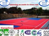 De opgeschorte Met elkaar verbindende Tegel van het Spel van het Basketbal van het Polypropyleen