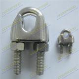 Нержавеющая сталь Ss304 или зажим веревочки провода Ss316 DIN741