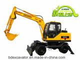 Piccoli prezzi dell'escavatore della rotella gialla ampiamente usata della benna 8.5t 0.3m3