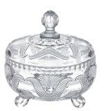 Supporti di candela di vetro della tazza del vaso di colore libero dorato di vetro del POT della caramella