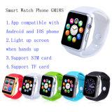 Het hete Verkopen Bluetooth 4.0 de Slimme Telefoon van het Horloge met Kaart SIM/TF en Camera (GM18S)