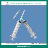 5ml drei Teil-Wegwerfspritze Luer Beleg mit Nadel/ohne Nadel