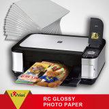 Papel de imprenta brillante del papel 260g de la foto de la hoja de corte de la fuente RC de la fábrica A4
