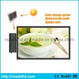 Energia verde che fa pubblicità al contrassegno della casella chiara di energia solare